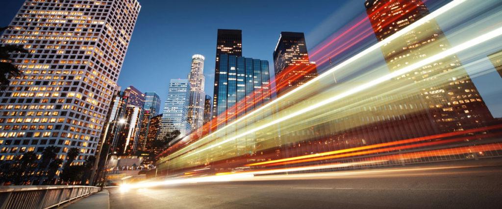 Los Angeles traffic night